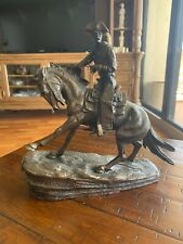 The Cowboy Bronze Cowboy Sculpture Signed - Frederic Remington -Limited Edition