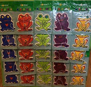 25 Bulk Coveva Novelty Frog Hanging Air Fresheners Car Taxi Van Wash Valet Bulk
