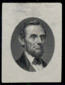 US #122-E4c, Lincoln Die on India vignette as used on #77 black, Scott $2,500+