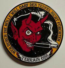 Louis Cifer Terrain 666 Geocoin -Orange Hell Edition - LE - NEU