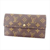 Louis Vuitton Wallet Purse Long Wallet Monogram Brown Woman Authentic Used Y3612