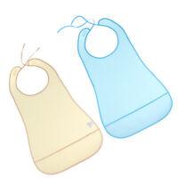 2pcs Waterproof Mealtime Bib Apron Clothing Protector for Adult Elderly Kids