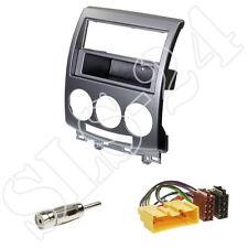 Mazda 5 (2006-2011) 2-DIN Radioblende+Fach ISO Radio Adapter + Antennen Stecker