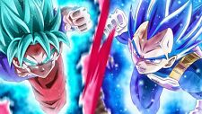 Poster 42x24 cm Dragon Ball Super Goku Vegeta Super Saiyan Blue God 03