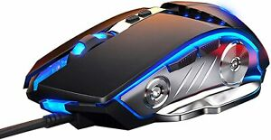 Gaming Mouse, Adjustable DPI, Breathing light, 6 Programmable buttons, ergonomic