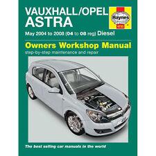 [4733] Vauxhall Astra 1.3 1.7 Diesel 2004-08 (04-08 Reg) Haynes Manual