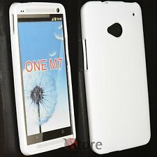 Cover Custodia Per HTC One M7 Silicone Gel TPU Bianco