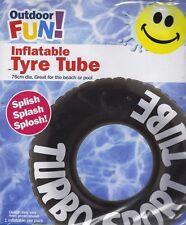 Gonfiabile Swim ring pneumatico Tubo Piscina Spiaggia Nero Galleggiante Bambini Vacanza Divertimento