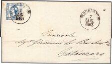 REGNO D'ITALIA/NAPOLI 1863  15 c. I TIPO n.12 ROSARNO  p.6 x CATANZARO € 425