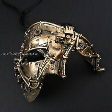 Steampunk Black Gold Phantom Half Face Halloween Masquerade Costume Party Mask