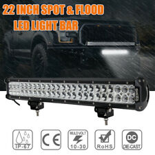 22inch CREE LED Light Bar Spot + Flood Driving Lamp For Offroad 4WD 4x4 Truck AU