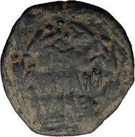 Jewish King ALEXANDER JANNAEUS Ancient Jerusalem WIDOW's MITE Bible Coin i62581