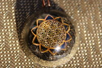 Energy Charged Orgone Generator Orgonite Pendant Flower of Life Sun