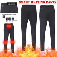 Electric Heated Trousers Heater Warm Winter USB Pants Women Men Leisure