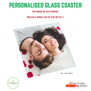 Personalised Glass Photo Coaster, ideal new home gift mum dad loved one gift
