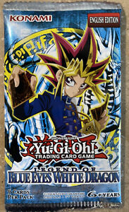Yugioh Legend of Blue Eyes White Dragon LOB Blister Booster Pack New UNWEIGHED!