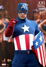 HOT TOYS MMS205 CAPTAIN AMERICA (STAR SPANGLED MAN VERSION) LIMITED EDITION NEW