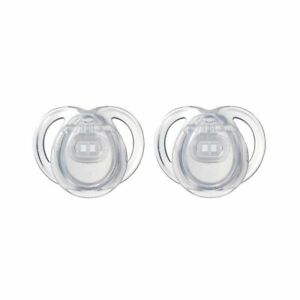 Tommee Tippee Pacifier 0-3 Month Closer to Nature Orthodontic 2 PK Clear