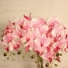 Butterfly Orchid Floral Bouquet Artificial Flowers for Wedding Party Home Decor