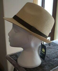 Men's Failsworth Narrow Brimmed Straw Trilby Hat Colour Natural Size Medium