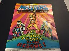 MASTERS OF THE UNIVERSE ROCK PEOPLE TO THE RESCUE MINI COMIC BOOK 1985 MATTEL
