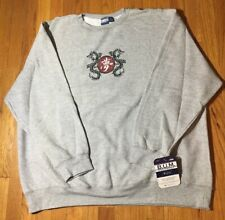 Vtg 90's Bum Equipment Sweatshirt Gray Crew 2XL Dragon Print NWT