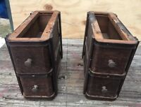 Antique Singer Treadle Sewing Machine Cabinet Drawers Wood
