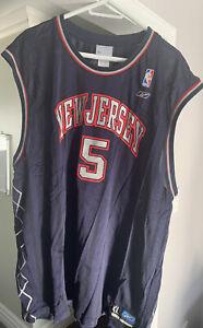 Vintage Authentic Reebok Jason Kidd Jersey NBA New Jersey Nets Basketball 2XL