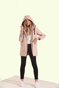 Charcoal Fashion Women's Premium Water Resistant Rubber Rain Coat (05SJ21-DP)