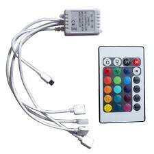 DC12/24V Doppel-Ausgang Mini 24Key IR Remote RGB LED Strip Light-Controller