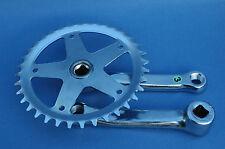 "NUEVO Pedal acero 127 mm 36 dents BSA 9/16"" bici vintage fixie sola velocidad"