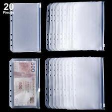 Binder Pocket A6 Size Binder Zipper Folders Plastic 20