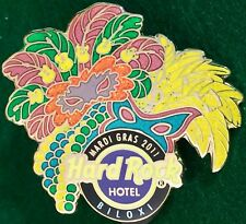Hard Rock Hotel BILOXI 2011 MARDI GRAS PIN Masks, Feathers & Beads - HRC #59207