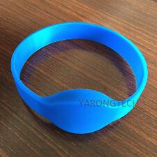 RFID Silicone Wristband 125Khz EM4100 Read Only Blue Adult Size Bracelet -10pcs