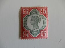 GB QV 1887-92 SP SG206 - Mint Hinged (MM) 4 1/2d Green & Carmine