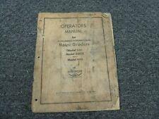 Wabco LeTourneau Westinghouse 330 330H 440 Motor Grader Owner Operator Manual