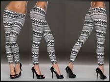Printleggings Druckleggings Leggings Hose Muster weiß schwarz 34 36 38 (767)