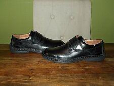 New Mens JOSEF SEIBEL Black leather Shoes With Adjustable Straps UK 8, EU 42