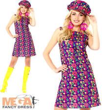 S5775 costume Hippie Homme Hippy Mardi Gras Déguisement 70er enfant fleur t s-xl