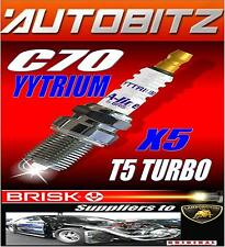 FITS VOLVO C70 TURBO BRISK SPARKPLUGS X4 YYTRIUM FAST DISPATCH