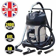 60 Litre Industrial 2400 Watt Wet & Dry Vacuum Cleaner - KIam TWO MOTOR VAC