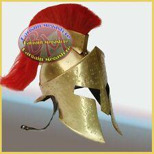 300 Movie Helmet w/ Leather Liner, Spartan King Leonidas Helmet Roman Costume