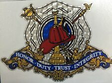 """Firefighter Reflective Decal, Fire Department, approx 5.5"""" wide     #FD135"""