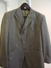 Phat Farm Polyester Blend Gray Striped Lined 3 Button Blazer - Size - 40 R