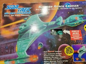 Star Trek Klingon Attack Cruiser Playmates 6155 ***Sounds Work!*** 1993