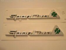 Alfa Romeo GREEN cloverleaf SPORTIVA GENUINE GIULETTA MITO 159 GT wing badges