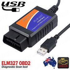 USB ELM327 OBD2 Diagnostic Scanner For PC Engine Scan Tool Code Reader V2.1