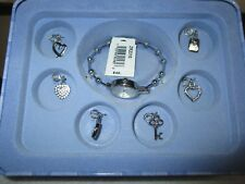 RELIC Brand Women's Silver Tone Quartz Watch with Removable Charms (NIB)