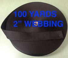 2 Inch Black Polypropylene Webbing 100 Yards  300 feet  2