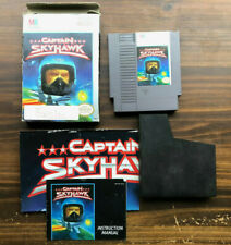 Captain Skyhawk NES TESTED With box, manual, poster and case